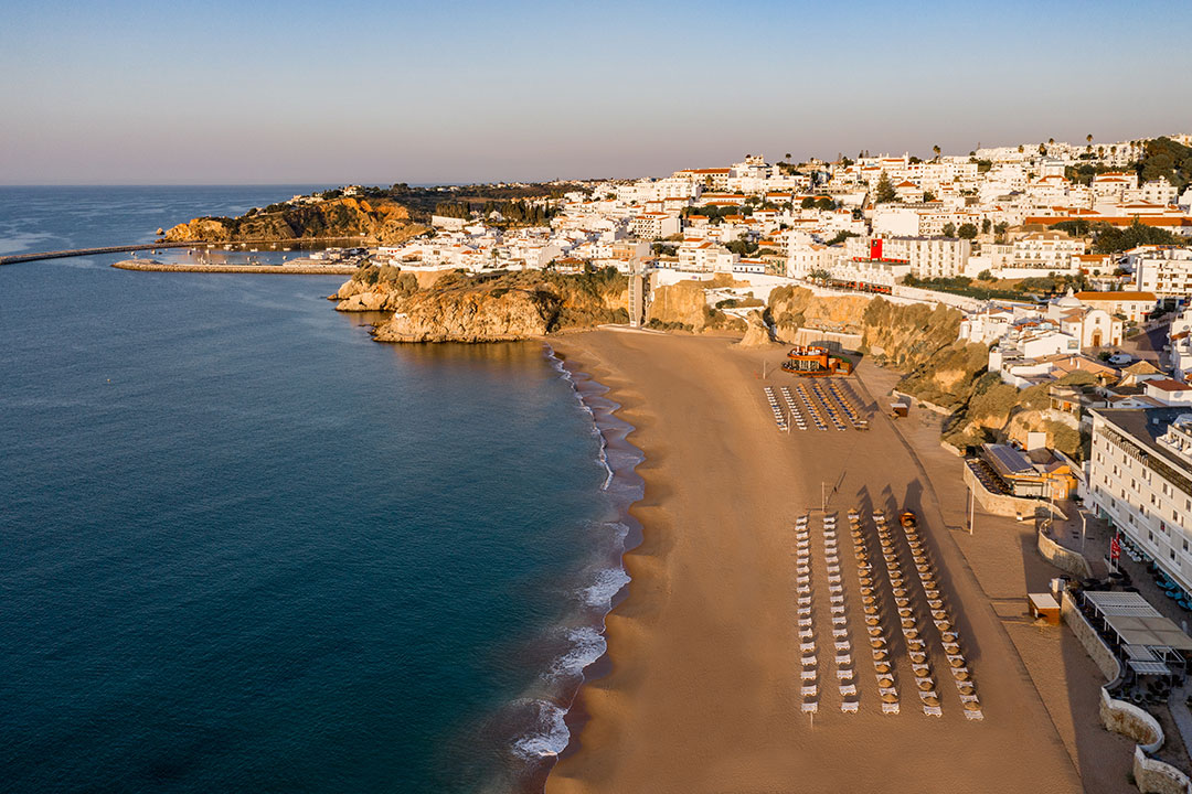 Pescadores beach and Albufeira marina