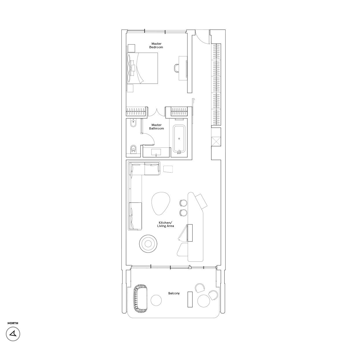 One Bedroom / Type B