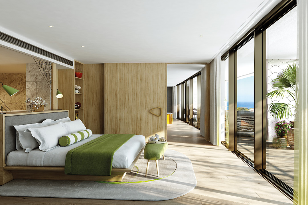 CGI of a Three Bedroom Residence Master Bedroom
