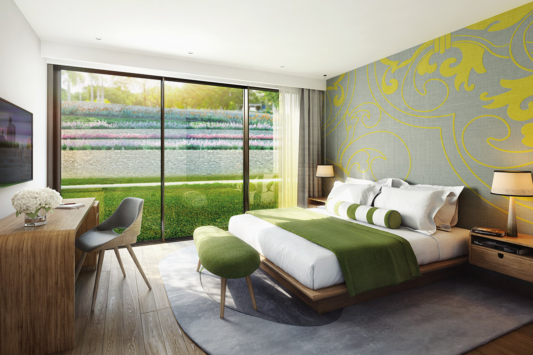 CGI of a Two Bedroom Residence Guest Bedroom