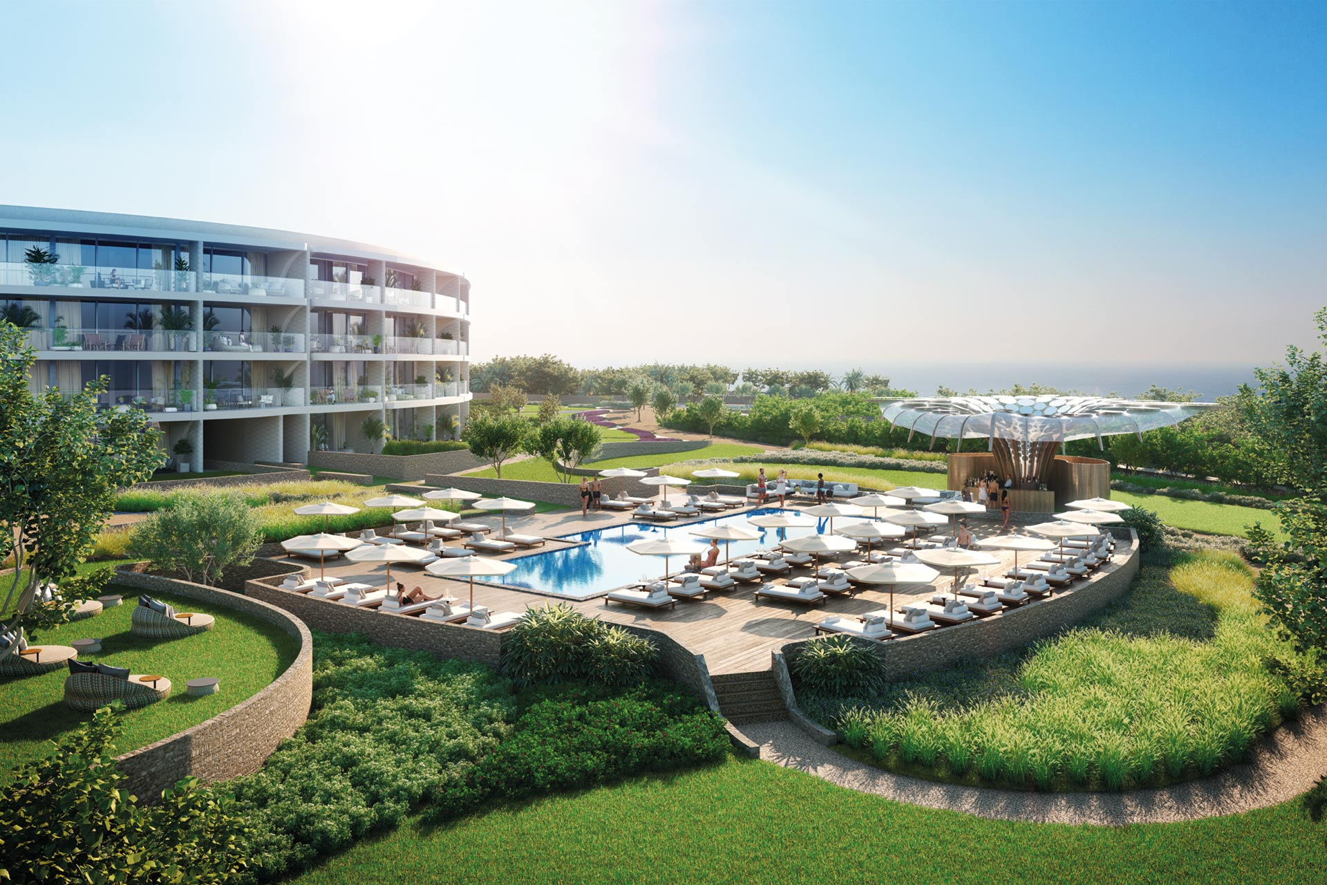CGI of the Residences Pool