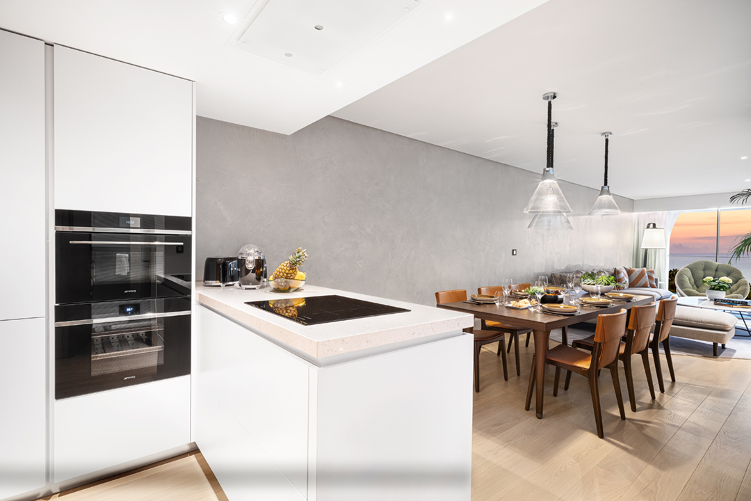 Photography of a three bedroom residence duplex kitchen & dining area